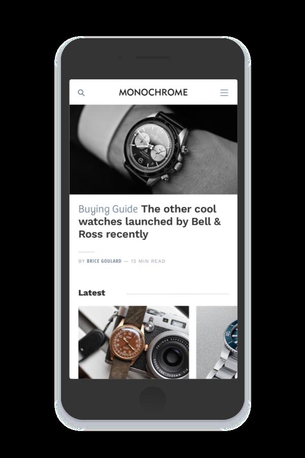 Monochrome website