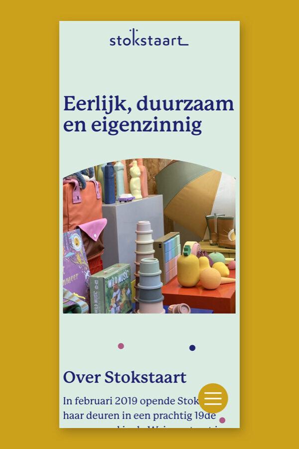 Mobiele website voor de Stokstaart shop